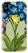 Forget Me Nots And Butterflies IPhone Case