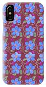 Forgetmenot Pattern On Marsala In Square IPhone Case