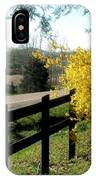 Forsythia Along The Highway IPhone Case