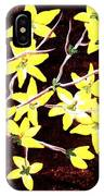 Forsythia Branches IPhone Case