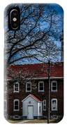 Fort Gratiot Lighthouse And Buildings With Clouds IPhone Case