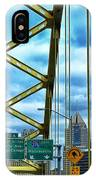 Fort Pitt Bridge And Downtown Pittsburgh IPhone Case