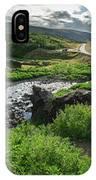 Fossa Waterfall In Hvalfjordur, Iceland IPhone Case