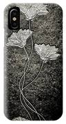 Fossilized Flowers IPhone Case