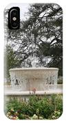 Fountain At Nottoway IPhone Case