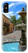 Fountain At Tlaquepaque Arts And Crafts Village Sedona Arizona IPhone Case
