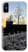 Fountain At Trinity River Campus 1566m IPhone Case