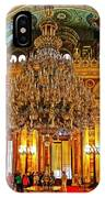 Four And One-half Ton Crystal Chandelier In Ceremonial Hall In Dolmabache Palace In Istanbul-turkey  IPhone Case