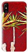 Four Yuccas In Red IPhone Case