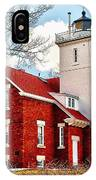 Fourty Mile Point Lighthouse IPhone Case