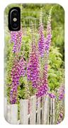 Foxglove Fence IPhone Case