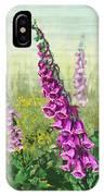 Foxglove Flower IPhone Case