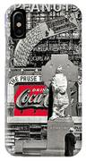 Fr. Duffy Statue Prior To Unveiling Coca Cola Sign Times Square New York City 1937-2014 IPhone Case
