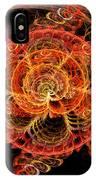 Fractal - Abstract - Mardi Gras Molecule IPhone Case