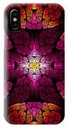 Fractal - Aztec - The All Seeing Eye IPhone Case