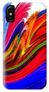 Fractal Colors On White IPhone Case