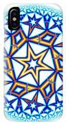 Fractal Escheresque Winter Mandala 1 IPhone Case