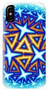 Fractal Escheresque Winter Mandala 10 IPhone Case