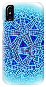 Fractal Escher Winter Mandala 5 IPhone Case