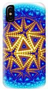 Fractal Escheresque Winter Mandala 6 IPhone Case