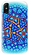 Fractal Escheresque Winter Mandala 8 IPhone Case