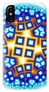 Fractal Escheresque Winter Mandala 9 IPhone Case