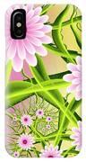 Fractal Fantasy Neon Flower Garden IPhone Case