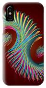 Fractal Feather Spiral IPhone Case