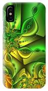 Fractal Gold And Green Together IPhone Case