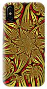 Fractal Golden And Red IPhone Case