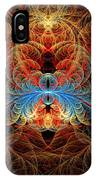 Fractal - Insect - Black Widow IPhone Case
