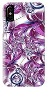 Fractal Pink Plant IPhone Case