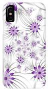Fractal Purple Flowers IPhone Case