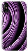 Fractal Purple Swirl IPhone Case