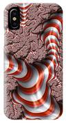 Fractal Red And White IPhone Case