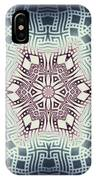 Fractal Snowflake Pattern 1 IPhone Case