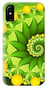 Fractal Sweet Yellow Fruits IPhone Case