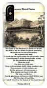 Framed Vintage 23rd Psalm Sepia IPhone Case