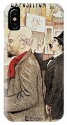 France Paris Poster Of Paul Verlaine And Jean Moreas IPhone Case