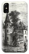 Franco-prussian War Bellevue Palace At Sedan IPhone Case