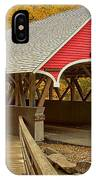 Franconia Notch Flume Gorge Bridge IPhone Case