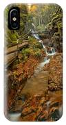 Franconia Notch Lush Greens And Rushing Waters IPhone Case