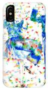 Fred Astaire And Ginger Rogers Watercolor Portrait IPhone Case