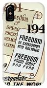 Freedom Everywhere In The World IPhone Case