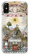 Freemason Emblematic Chart IPhone Case