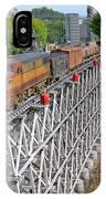 Freight Train Bridge Crossing IPhone Case