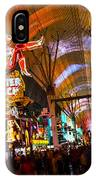 Fremont Street Experience Lights IPhone Case