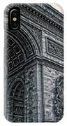 French - Arc De Triomphe And Eiffel Tower II IPhone Case