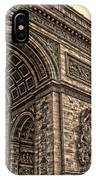 French - Arc De Triomphe And Eiffel Tower IIi IPhone Case