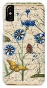 French Botanical Damask-b IPhone Case